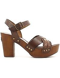 Lumberjack Lira Sw26206-002 Dk Brown - Sandalias de vestir de Piel para mujer