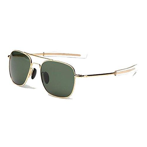 EnzoDate US Air Force Aviator Sunglasses Piloto militar polarizado Bayoneta Temples Wire Spatula Retro clásico para hombre UV400 zmR3HlZ