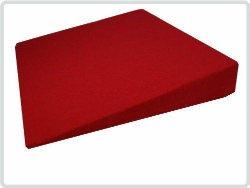 Orthopädisches Keilkissen 100 % Baumwollbezug! - Farbe: rot - Sitzkeil Sitzkissen Sitzkeilkissen Sitzkissen Kissen