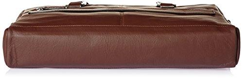 Bugatti Bags Manhattan 49111102 Unisex-Erwachsene Schultertaschen 40x29x11 cm (B x H x T) Braun (braun 02)