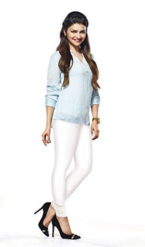 Lux Lyra Women's White Churidar Leggings