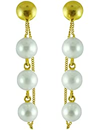 Aastha Jain Pearl Sterling Silver(18k gold plated) Earring For Women
