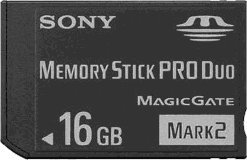 Sony Memory Stick Pro Duo Flash-Speicherkarte schwarz 16 gb