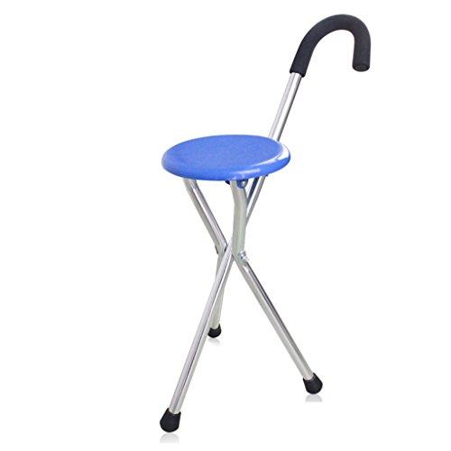 HAIYING Reisen Sie auf Walking Sitz und Stock in Einem, Verstellbare Klapp Walking Cane Stuhl Hocker Massage Walking Stick mit Sitz Tragbare Angeln Rest Stoo -
