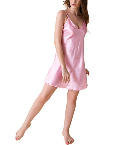 Bel Avril Woman Nightdress simple Strapless Robe Nightie Satin Size from S to XXXL - 31r2OBxjb6L - Bel Avril Woman Nightdress simple Strapless Robe Nightie Satin Size from S to XXXL