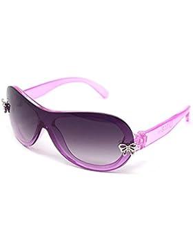 Ultra® rosa ragazze occhiali da sole splendente cristallo rosa telaio con due placche di farfalla d'argento il...