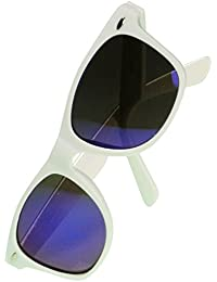 Immerschön Sonnenbrille - viele Farben verspiegelt in angesagtem Wayfarer-Design Nerd Retro Bluesbrothers 80´s Unisex