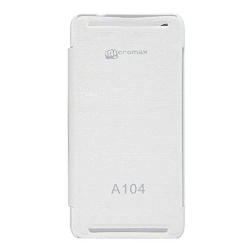 Acm Flip Case For Micromax Canvas Fire A104 Mobile Front & Back Flap Folio Cover-White  available at amazon for Rs.179