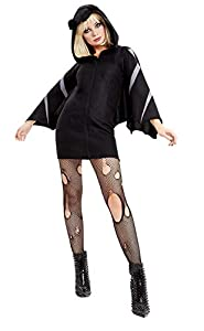 Smiffys 50941S - Disfraz de murciélago para mujer, talla S, color negro