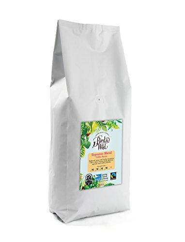 Mezcla de espresso marca de la casa de Bird & Wild, ONG Sociedad Real para la Protección de Animales (RSPB), café de comercio justo orgánico cultivado a la sombra y amigable con las aves, café de gra