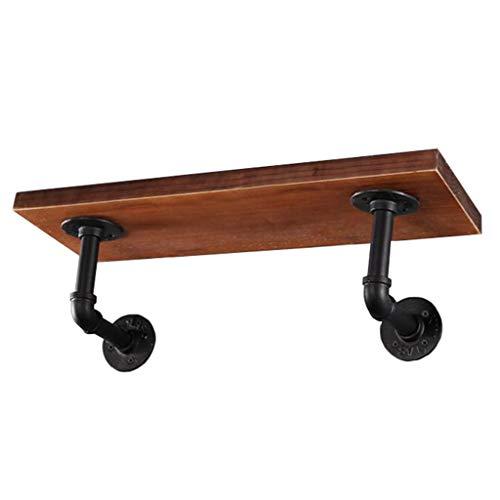 XIAOPING Wandhalterung Mit Eisenständer Und Holzlagerungsständer Home Storage Stand/Rack Für Wohnzimmer/Schlafzimmer/Bad/Küche Und Flur (Size : 100x20x2cm)