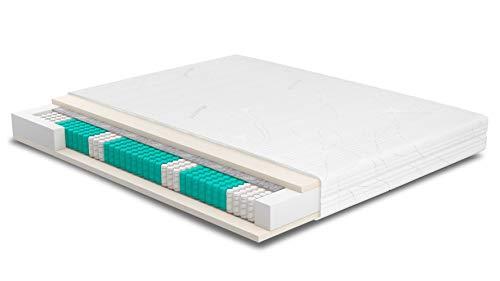 AS Meister SERA H4 TFK-HR45 Purotex Matratze 215x180 cm 7-Zonen Tonnentaschen 500 F/m² Federkernmatratze 23cm