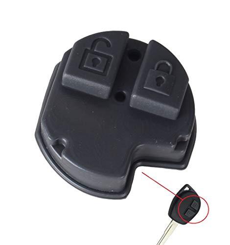 Ersatz Gummi Tastenfeld mit 2 Tasten Ersatztasten für abgenutzte und defekte Tasten oder Schlüsselgehäuse, Auto Schlüssel