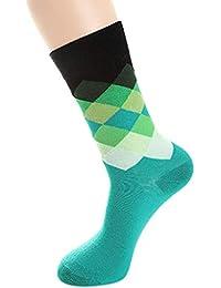 OPAKY Mujer Hombre Calcetines de Algodón Plaid Multicolor Lindo Imprimir Regalo Tobillo Calcetín Calcetines Algodon Calcetines