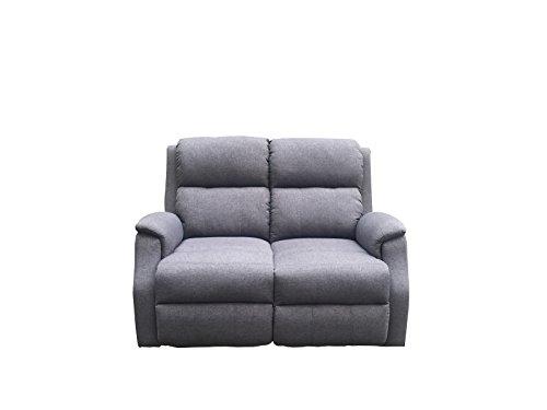 Avanti trendstore - alina - divano in microfibra, colore antracite, con funzione relax integrata, ca. 129x97x90 cm (antracite, 2 posti)