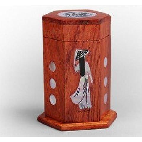 Palillero Diseño Muñeco Mujer Madera