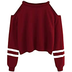 Sweatshirt à Capuche Court à La Mode des Femmes I Do Not Seek Lettre Imprimé Pullover Pas Cher Fashion Chemisier Fille Blouse Femme Hiver (S(EU38), Rouge vin)
