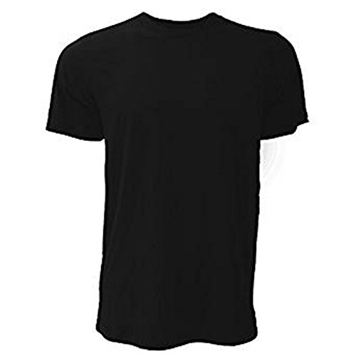 Bella Canvas Herren T-Shirt Gr. Large, schwarz (Womens V-neck T-shirt Ringer)