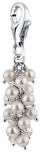 Nenalina Edler Perlen Charm Anhänger, 925 Sterling Silber