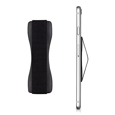 kwmobile Finger-Halterung Smartphone Halter für die Hand, für verbesserte Einhandbedienung - Für iPhone 6 Plus, Samsung Galaxy S6, Sony Xperia und mehr in Schwarz
