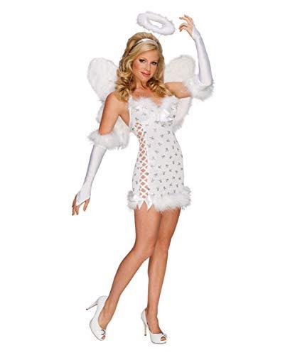 Horror-Shop Sexy Playboy Engel Kostüm mit Heiligenschein, Flügel -
