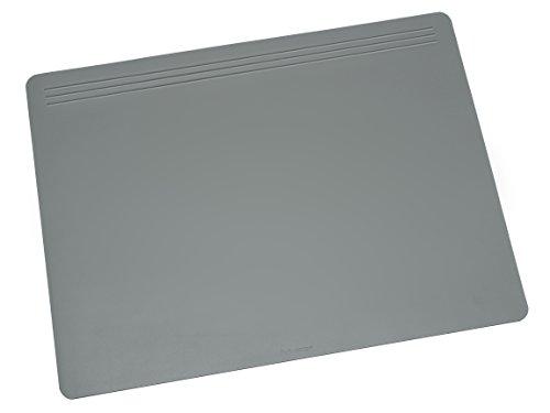Schreibunterlage Grau (Läufer 32603 Matton Schreibtischunterlage 40x60 cm, grau, rutschfeste Schreibunterlage für besonders hohen Schreibkomfort, hochwertiger Vlies auf der Rückseite)