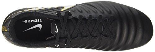 Nike Tiempo Ligera IV FG, Chaussures de Football Homme Noir (Black/White-Black-Metallic Vivid Gold)