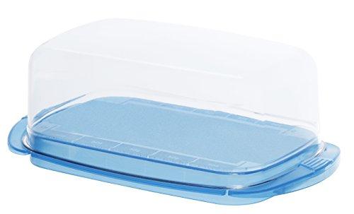 """Rotho Butterdose """"Fresh"""" - tischfeiner Aufbewahrungsbehälter für Butter mit glasklarer Haube, BPA-freie Vorratsdose aus Kunststoff (SAN) - spülmaschinengeeignet, ca. 18x9.5x6.9 cm (LxBxH) Test"""
