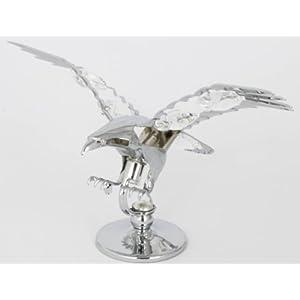 Adler Figur mit Kristallen MADE WITH SWAROVSKI ELEMENTS (Silberfarben)