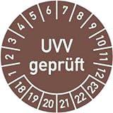 Prüfplaketten UVV geprüft 2018 - 2023 Ø 3 cm 100 Stück