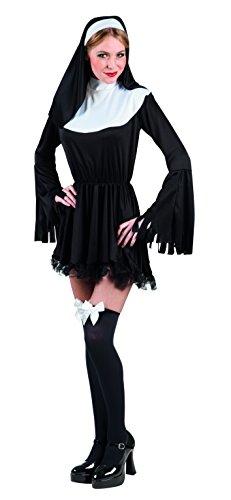 Boland 83817 - Suora Sexy Costume Donna, Nero/Bianco, M