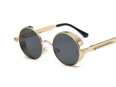 Generic Round Metal Sunglasses Women Steampunk Men Fashion-color6