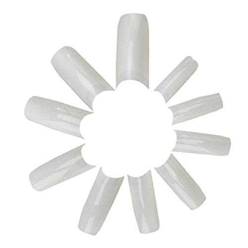 JJOnlinestore Künstliche Nägel, 500 Stück, natur/weiß, French-Style