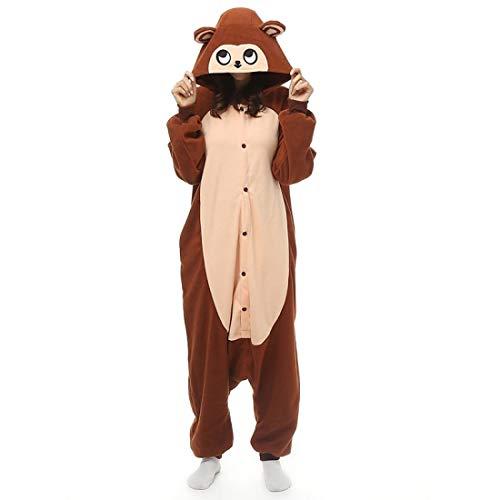 DUKUNKUN Erwachsene AFFE Pyjamas Kostüm Kaffee Cosplay Für Tier Nachtwäsche Cartoon Halloween - Regenbogen Affe Kostüm