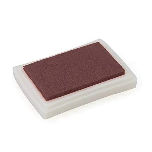 Tragbare große Tinten Auflage Stempel Partner DIY Fertigkeit Ungiftiger Finger Ink Pad für Kinder Brown ArtSupplies (Finger-pads Große)