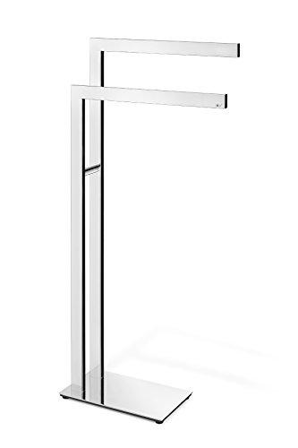 ZACK toallero, Acero Inoxidable, Plata, 38,5 x 15 x 80 cm