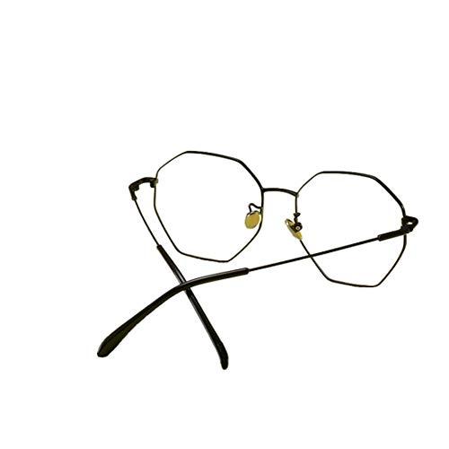 Yajiemei Butterfly Metall Flacher Spiegel übergroße Brillengestell Retro Brillengestell Nicht verschreibungspflichtige Brille (Color : Black)