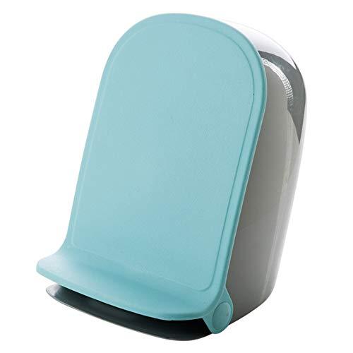 TZZ Mini mülleimer Hause kreative küche Schlafzimmer Wohnzimmer Bad große Mute Pedal Trash büro mit Abdeckung Soft Closing zubehör PP Material mit Griff (Farbe : Blau)