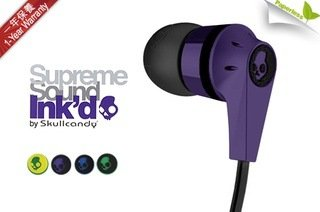 Skullcandy S2IKDY-003-Ink'd 2.0 Earbud Headphones with Mic (Purple)  available at amazon for Rs.569