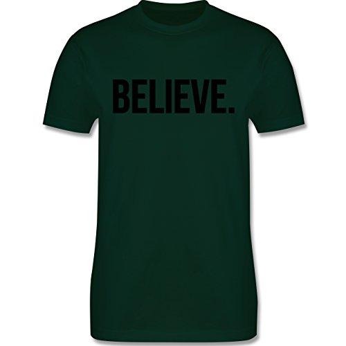 Statement Glaube Religion - Believe Glauben - Herren T-Shirt Dunkelgrün