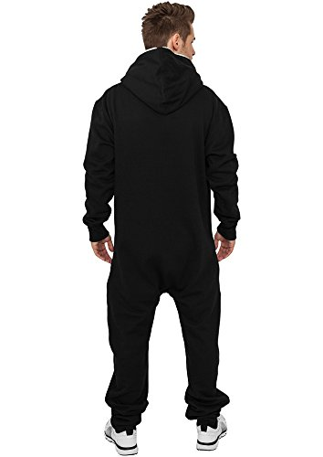 Urban Classics Herren Strampelanzug Sweat Jumpsuit, Black/White, X-Small / Small - 3