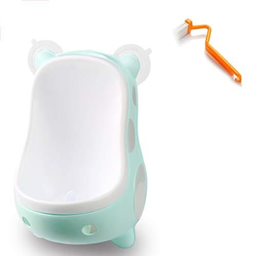 Urinoir bébé garçon Toilette Murale Enfant Debout Toilette de garçon Potty Forme Mignon, sécurité matérielle, Facile à Nettoyer, Autonome (Couleur : Green)