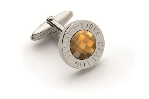 Price comparison product image Graf von Faber-Castell Platinum Plated Cufflinks with Citrine