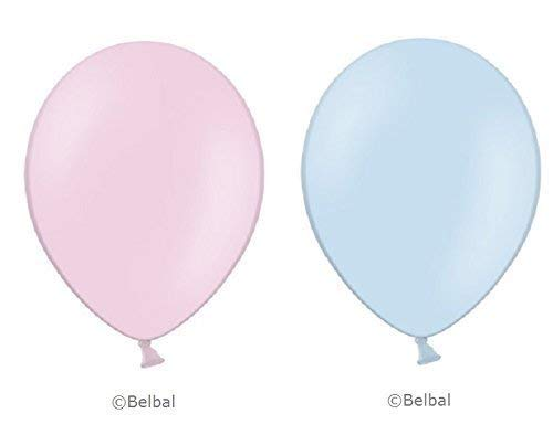 50 x hellrosa & 50 x Baby blau Belbal Luftballons - 12