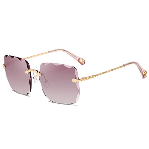 Provide The Best Unisex Randlos Rechteck Trimming Sonnenbrille UV 400 Schutz Männer Frauen Brillen Anti-UV Outdoor-Sonnenbrillen