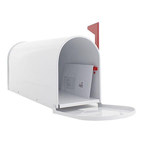 Profirst Mail PM 630 Briefkasten Weiß, Amerikanischer Stil aus verzinktem Stahlblech ,pulverbeschichtet ,inklusive Montagematerial - 3