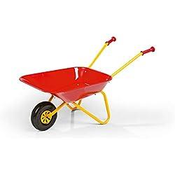 Rolly Toys Kinder Schubkarre ClassicSommer, Metallschubkarre mit kinderfreundlichen Griffen, Outdoor-Spielzeug mit Plastik Bereifung, rot / gelb, 270804