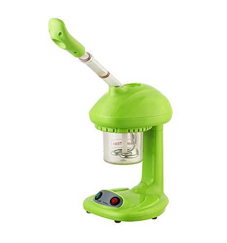 Vaporisateur facial Hot Mist, rotation à 360 °, humidificateur à l'ozone, pour la maison et les salons de beauté, extraire les points noirs, régénérer et hydrater la peau de votre visage, vert