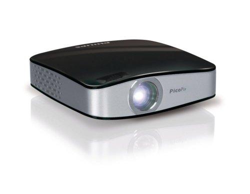 Philips PicoPix 1020 LED-Projektor (Kontrast 500:1, 20 ANSI Lumen, XGA, 1024 x 768) grau / schwarz