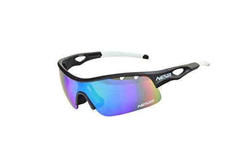 Nesta Esus Sportbrille, Unisex Erwachsene Einheitsgröße Mattschwarz
